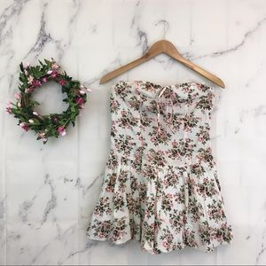 Tracy Feith for Target Floral Strapless Mini Dress
